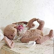 Куклы и игрушки ручной работы. Ярмарка Мастеров - ручная работа Зайка тедди пыльно-розовый. Handmade.