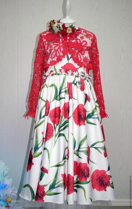 Платья ручной работы. Ярмарка Мастеров - ручная работа. Купить Нарядное платье с кружевным болеро. Handmade. Нарядное платье
