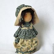 """Куклы и игрушки ручной работы. Ярмарка Мастеров - ручная работа Текстильная кукла  """"Барышня""""  в чепчике и с бантиком.... Handmade."""