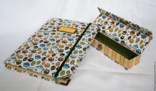 Блокноты ручной работы. Ярмарка Мастеров - ручная работа. Купить Блокнот и пенал  СОВУШКИ. Handmade. Комбинированный, совы