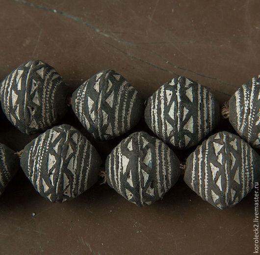 Для украшений ручной работы. Ярмарка Мастеров - ручная работа. Купить Винтажные крупные круглые глиняные бусины из Мали. Handmade.