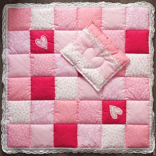 """Для новорожденных, ручной работы. Ярмарка Мастеров - ручная работа. Купить Комплект """"Нежность"""". Handmade. Розовый, хлопок 100%"""