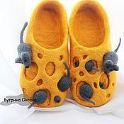 """Обувь ручной работы. Ярмарка Мастеров - ручная работа Тапочки """"Королевство Мышек"""". Handmade."""