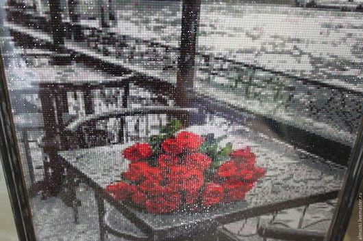 Город ручной работы. Ярмарка Мастеров - ручная работа. Купить Город. Handmade. Город, розы, 40х50, для дома и интерьера
