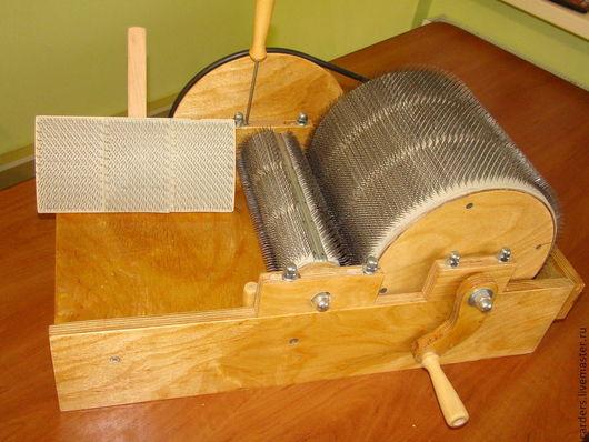 Валяние ручной работы. Ярмарка Мастеров - ручная работа. Купить Кардер барабанный для вычесывания шерсти.. Handmade. Шерсть, золотой