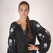 Одежда ручной работы. Ярмарка Мастеров - ручная работа Блуза бохо вышитая женская, этно стиль  Vita Kin,Bohemia. Handmade.