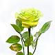 Цветы ручной работы. Зеленая роза из полимерной глины. Saison Romantique. Интернет-магазин Ярмарка Мастеров. Роза, подарок девушке