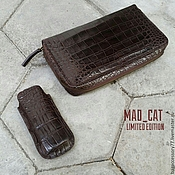 Сумки и аксессуары handmade. Livemaster - original item Wallet genuine leather crocodile. Handmade.