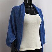 Одежда ручной работы. Ярмарка Мастеров - ручная работа Болеро-накидка-шарф  из кид-мохера на шелке с люрексом. Handmade.