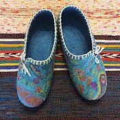 Обувь ручной работы. Ярмарка Мастеров - ручная работа тапочки Лазурь. Handmade.