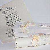 """Свадебный салон ручной работы. Ярмарка Мастеров - ручная работа Приглашение-свиток """"Винтаж"""". Handmade."""