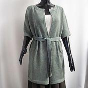 Одежда handmade. Livemaster - original item 100% merino cardigan mint grey. Handmade.