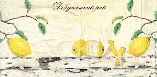 Декупаж и роспись ручной работы. Ярмарка Мастеров - ручная работа. Купить Мона Свард Салфетка для декупажа. Handmade. Желтый, салфетка