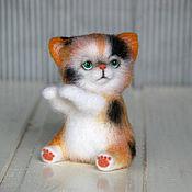 Куклы и игрушки ручной работы. Ярмарка Мастеров - ручная работа Трёхцветный Котя. Handmade.