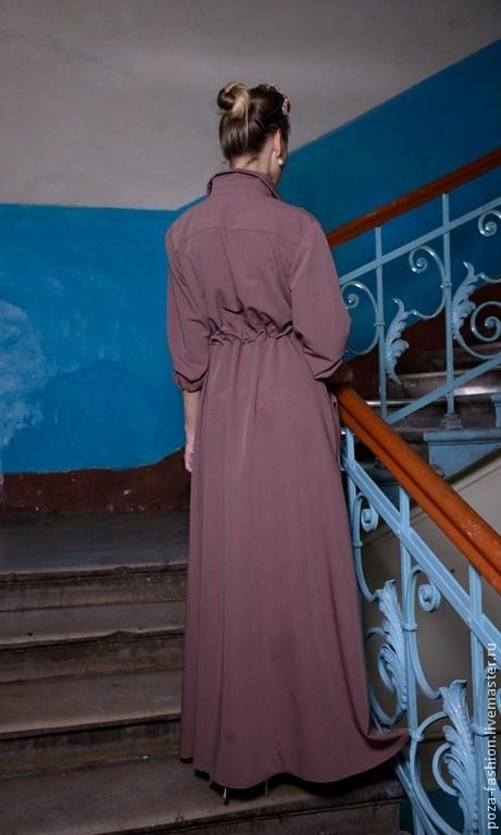Платья сафари длинные