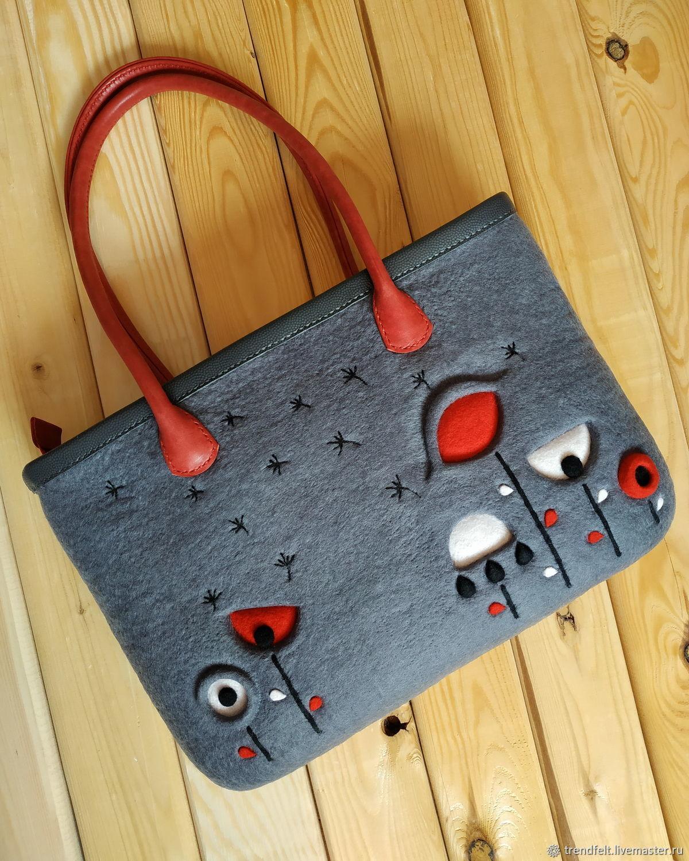 Женские сумки ручной работы. Ярмарка Мастеров - ручная работа. Купить Сумка валяная 'Ever', сумка серая для ноутбука. Handmade.