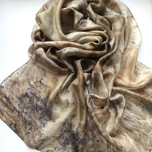 """Шарфы и шарфики ручной работы. Ярмарка Мастеров - ручная работа. Купить Шелковый шарф """"Осенние рощи"""". Натуральный шелк.. Handmade."""