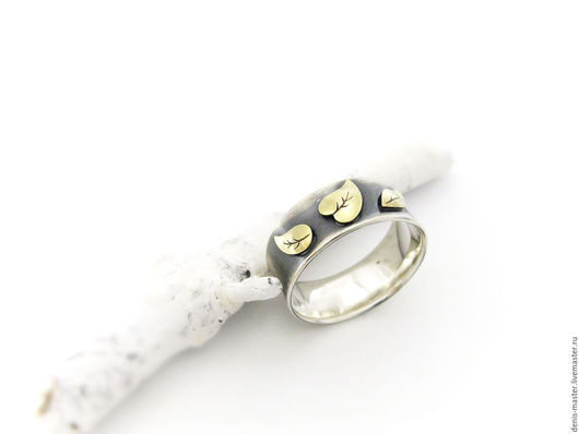 """Кольца ручной работы. Ярмарка Мастеров - ручная работа. Купить Кольцо из серебра """"осеннее"""". Handmade. Серебряный, серебряное кольцо"""