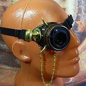 "Субкультуры handmade. Livemaster - original item Monocle Steampunk ""SCIENTIST CYBER-37"". Handmade."
