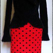 Одежда ручной работы. Ярмарка Мастеров - ручная работа Жаккардовая юбка в горошек. Handmade.