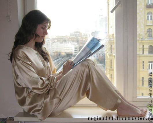 Фото шёлковой пижамы.