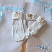 Работы для детей, ручной работы. Ярмарка Мастеров - ручная работа Носочки для крещёния. Handmade.