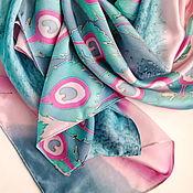 Аксессуары handmade. Livemaster - original item Silk scarf
