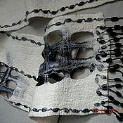 Аксессуары handmade. Livemaster - original item Scarves in black and white. Handmade.