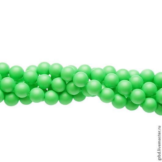 Для украшений ручной работы. Ярмарка Мастеров - ручная работа. Купить Жемчуг Сваровски 8 мм 5810 Neon Green (08-771). Handmade.