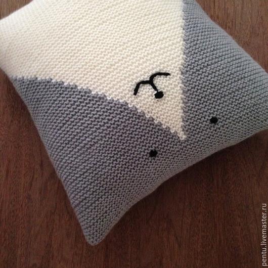 Текстиль, ковры ручной работы. Ярмарка Мастеров - ручная работа. Купить Подушка интерьерная Котик. Handmade. Подушка, подушка интерьерная