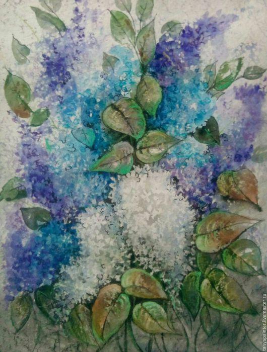 Картины цветов ручной работы. Ярмарка Мастеров - ручная работа. Купить Картина  Весеннее настроение. Смешанная техника. Handmade. Картина