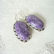 Украшения handmade. Livemaster - original item Earrings charoite. Handmade.
