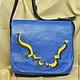 Женские сумки ручной работы. Ярмарка Мастеров - ручная работа. Купить Голубая волна. Handmade. Синий, подарок на 8 марта