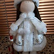 Куклы и игрушки ручной работы. Ярмарка Мастеров - ручная работа Текстильная куколка Снегурочка.. Handmade.