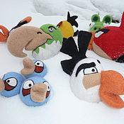Куклы и игрушки ручной работы. Ярмарка Мастеров - ручная работа Птички  Angry Birds. Handmade.