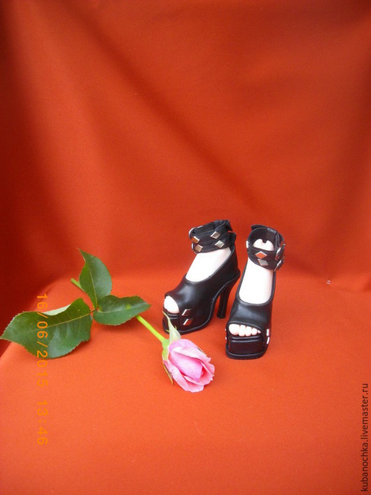 Одежда для кукол ручной работы. Ярмарка Мастеров - ручная работа. Купить Туфельки для БЖД куклы. Handmade. Черный, шарнирная кукла