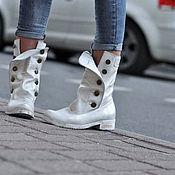 Обувь ручной работы. Ярмарка Мастеров - ручная работа Ботиночки на осень. Handmade.