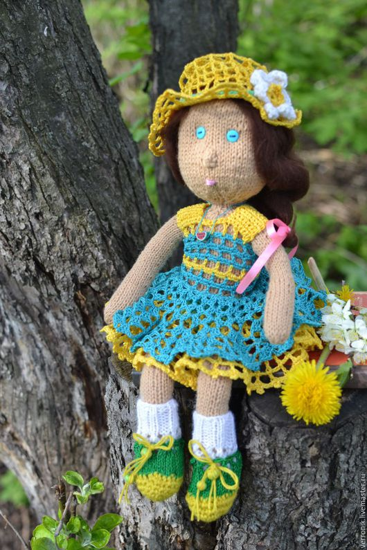 Куклы и игрушки.Кукла коллекционная.Кукла вязаная `Лизонька`. Кукла вязаная `Лизонька` купить. Kukla vjazanaja `Lizon`ka`. Handmade.Магазин мастера Доминика.