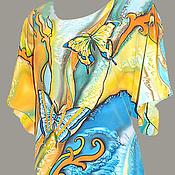 Одежда ручной работы. Ярмарка Мастеров - ручная работа Платье - Кимоно Батик. Handmade.