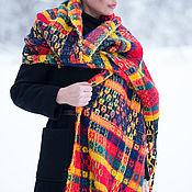 Палантины ручной работы. Ярмарка Мастеров - ручная работа Большой тканый шарф, Женский теплый шарф- SK0825CKW. Handmade.