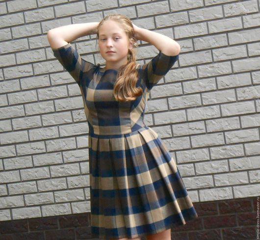 Платья ручной работы. Ярмарка Мастеров - ручная работа. Купить Платье женское в клеточку. Handmade. Платье, клетка, Платье осеннее