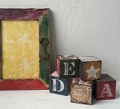 Для дома и интерьера ручной работы. Ярмарка Мастеров - ручная работа SALE 30% Комплект Рамка и кубики. Handmade.