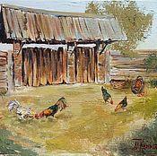 Картины и панно handmade. Livemaster - original item The picture of the Bird yard. Handmade.