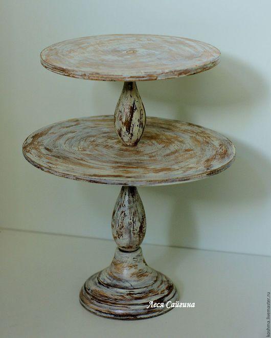 Свадебные аксессуары ручной работы. Ярмарка Мастеров - ручная работа. Купить Тортовница двойная для капкейков и торта. Handmade.