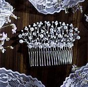 Свадебный салон handmade. Livemaster - original item Comb wedding white