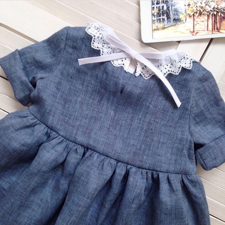 Детское платье Белый воротничок