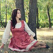 Одежда ручной работы. Ярмарка Мастеров - ручная работа сарафан в русском стиле. Handmade.