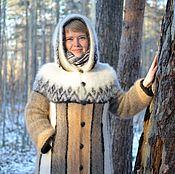 Одежда ручной работы. Ярмарка Мастеров - ручная работа Пальто из собачьего пуха. Handmade.