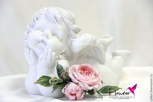 """Цветы ручной работы. Ярмарка Мастеров - ручная работа. Купить Веточка с розами - """"Sweet roses"""" - Сладкие розы. Цветы из шелка.. Handmade."""