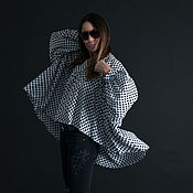 Одежда handmade. Livemaster - original item Cotton top tunic with sleeves, light and loose - TU0480CV. Handmade.